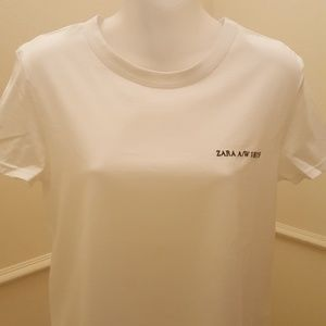 NWT ZARA PULOVER T-SHIRT WHITE COLOR SIZE S
